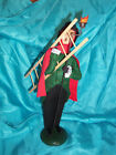 1996 Byers Choice Caroler Man Lamp Lighter Fire Pole with Ladder