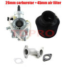 Molkt 26mm Carburetor Air Filter Inlet Pipe for 140cc 150cc 160cc Taotao SSR SDG