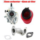 Molkt 26mm Racing Carburetor Inlet Pipe Air Filter for 140cc 150cc 160cc Pitpro