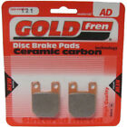 Front/Rear Disc Brake Pads for Gilera RCR50 2004 50cc  By GOLDfren