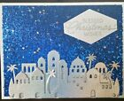 Handmade Greeting Card Kit 4 cards Stampin Up silver blue Night in Bethlehem