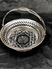 STERLING AND AMERICAN BRILLIANT CUT GLASS HANDLE DISH 4 INCH BY 2 INCH WHITING