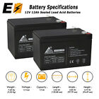 2 Pack Replacement UB12120 12V 12Ah F2 Wheelchair Scooter Battery Replaces