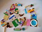 "LOT OF LEGO MINIFIGUES PARTS ACCESSORIES ""USED"" GIRLS DOGS FLOWERS BRICKS"