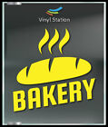 Bakery Bread Decal Sign Business Store Vinyl Window Decal