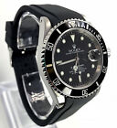 Rubber Dive Strap For Rolex Submariner Black 20mm Curved End Band USA Seller