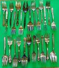 Lot of 25 Silverplate Serving  Forks Assorted Craft Grade