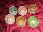 Set of 12 Vintage Spaghetti String Roly Poly glasses made by Colour Craft Corp i