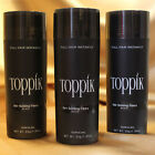 3Pcs Toppik Hair Building Fibers 27.5 Grams - Black / Dark Brown U.S SELLER
