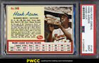 1962 Post Cereal Hank Aaron BLANK BACK #149 PSA 9 MINT (PWCC)