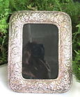LOVELY OLD/ANTIQUE ORNATE 950 STERLING FLORAL REPOUSSE PICTURE FRAME