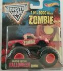 MONSTER JAM Hot Wheels ZOMBIE Halloween truck 1 of 5000 LIMITED EDITION