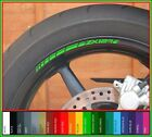 8 x Kawasaki ZX12R wheel rim stickers decals - choice of colour - ninja 1200