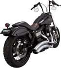 Vance  Hines Chrome Super Radius 2 2 Exhaust Pipes System Harley Dyna 2006 2017
