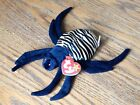 Ty Beanie Baby Spinner the spider, MWMT, Rare, Retired, P.E. Pellets With Errors