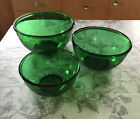 Vintage 1950s Forest Green Nesting Mixing Bowls Set Anchor Hocking