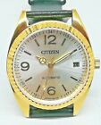 citizen automatic men's gold plated SILVAR  dial vintage japan made watch run 16