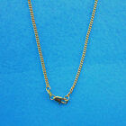 """Wholesale 1PCS 22""""  Fashion Jewelry 18K Gokd Filled Flat Curb Chains Necklaces"""