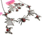 Jewely Betsey Johnson Pendant Chain Rhinestone Spider Web Earrings Necklaces Set