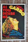 As you Desire Me Lobby Card Movie Poster Gret Garbo