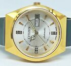 citizen automatic men's gold plated silvar dial vintage japan made watch order46