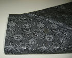 Quilting Treasures quilt fabric Colebrook LINEAR FLORAL black 2 yds 26010 j
