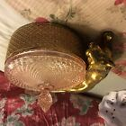 Antique Unusual Candy Dish With Lid and Lion Attached