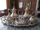 6 Piece Vintage Wallace Baroque-Style Silver Plate Tea/Coffee Service Set