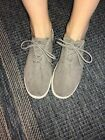 Steve Madden Gray Suede Sneakers Womens Size 85B