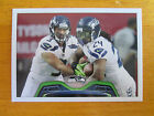 Rare 2013 Topps NO NAME ERROR - Russell Wilson - Marshawn Lynch Seattle Seahawks