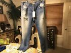 Current Elliott Sz 30 Zephyr Slouchy Skinny Detroyed Button Fly Jeans