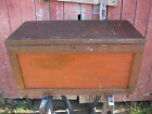 Antique Wooden Carpenters Tool Chest  Awesome Patina with Original Finish