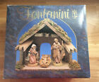 5 Collection FONTANINI HEIRLOOM NATIVITY Starter Set Italy Wood Stable Vtg1992