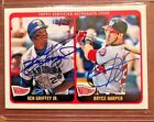 2014 KEN GRIFFEY JR AND BRYCE HARPER TOPPS HERITAGE REAL ONE DUAL AUTO #13 25