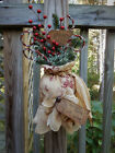 FoLk Art PrimiTive CHRISTMAS sanTa SacK OrNies Tree OrnamenTs DooR DecoraTion