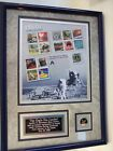 USPS Framed Matted 1960s Stamps Sheet Signed Buzz Aldrin Astronaut Apollo 11 Ex