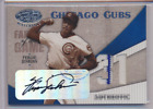 FERGIE JENKINS 2004 LEAF CERTIFIED FABRIC OF THE GAME AUTO JERSEY CUBS 3 5