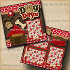 DOG DAYS 2 premade scrapbook pages paper piecing puppies pet BY DIGISCRAP A0146
