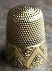Victorian Antique 14K Solid Yellow Gold No 8 Thimble