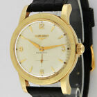 Longines 14K Solid Gold Automatic Watch 19A Screw Back Original Dial 33-34mm