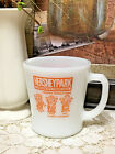 Hershey Park Chocolate VTG Milk Glass Coffee Mug / Cup ~ D-Handle - New!!  RARE