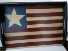 Primitive Country Stove Cover Noodle Board Americana Flag Serving Tray Farmhouse