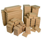 Kraft Gift Boxes Multipurpose Boxes Cotton Filled Jewelry Boxes 20 50 100 500Pc