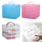 3Tray Plastic Clear Jewelry Bead Organizer Storage Case Box Container Craft Tool