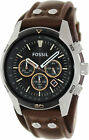 Fossil Men's Coachman CH2891 Brown Leather Japanese Quartz Fashion Watch