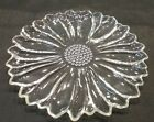 Vintage Hazel Atlas Sunflower Clear Glass Snack Luncheon Plate