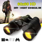 60X60 Zoom Day Night Vision Outdoor HD Binoculars Hunting Telescope + Case SET