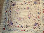 Antique 19's Silk Piano Shawl chinese embroidered de manila qing dynasty canton