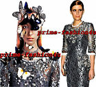 Dolce  Gabbana Metallic Floral Lace Swarovski Crystal Hand Embellished Dress