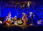 10x8FT Vinyl Blue Lights Jesus Nativity Manger Studio Backdrop Photo Background